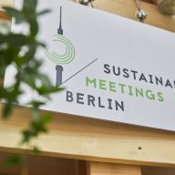 Sign with Sustainable Meetings Berlin logo