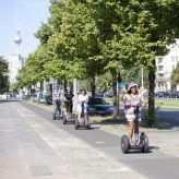 City Segway Tours Berlin and Fat Tire Tours Berlin on Karl-Marx-Allee on Segways