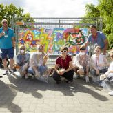 Berlin Convention Office, con|temporary weekend Juni 2018, Gruppenfoto beim Graffiti Workshop