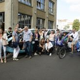 Berlin Convention Office, con|temporary weekend Juni 2018, Gruppenfoto von der Tour mit dem VELO Taxi