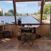 Obscura Boat studio overlooking the Spree