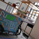 Catering bike by Refueat in the building of the Königliche Prozellan-Manufaktur Berlin