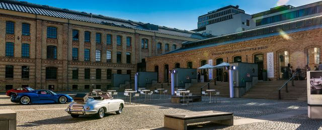 Meeting Guide Berlin, KPM Berlin, Event Set Up im Innenhof der Manufaktur