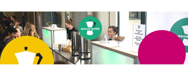 Kaffeebar des Coffee Caterings mocca mobil im Meeting Guide Berlin