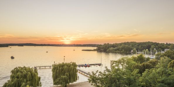 Blog BerlinMeetings, event locations at Wannsee, sunset at Wannsee
