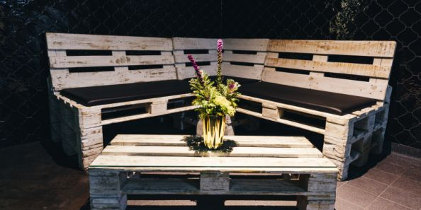 Rental furniture made of euro pallets