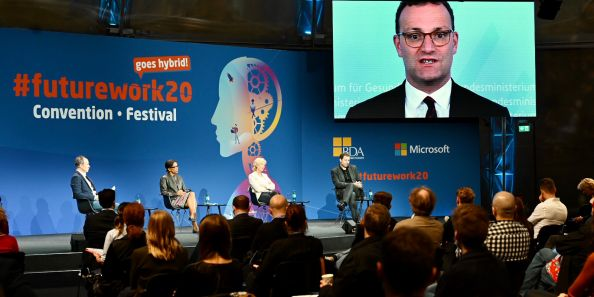 Corona-compliant events in Berlin, #futurework20, Speaker Mr. Jens Spahn