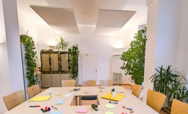 Workshop Setting in der MEET+CHANGE Location Beratungsstelle in Moabit