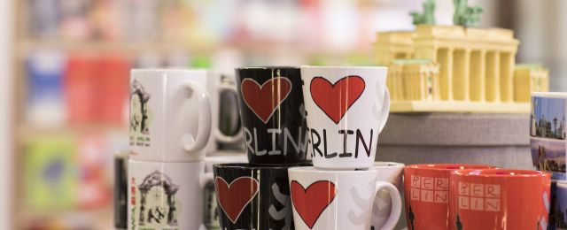 Berlin Convention Office, service and event planning, advertising media, Berlin cups in souvenir shop