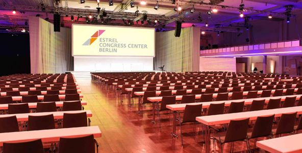 Meeting Guide Berlin, Tagungshotel Berlin, Estrel, Convention Hall I Bankettbestuhlung