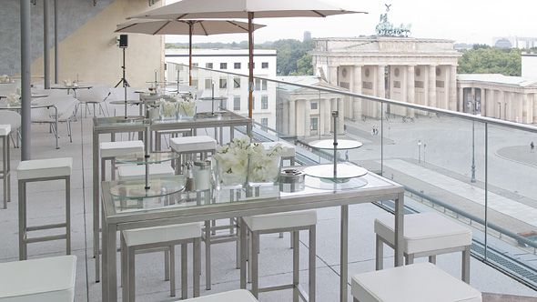 Event equipment, Eventwide Berlin, balcony with furniture